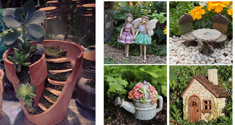 vazinhos de mini jardim