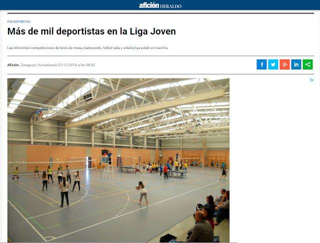 NOTICIA AFICCIÓN HERALDO: Más de mil deportitas en la Liga Joven