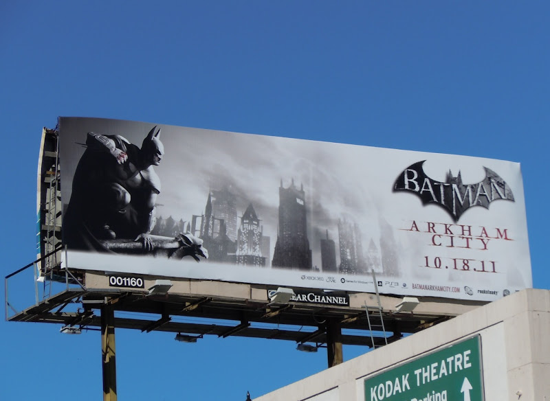 Batman Arkham City video game billboard
