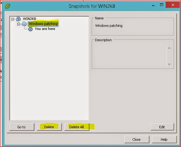 Remove Server Snapshot from VMware Guest | System Administrator Guide