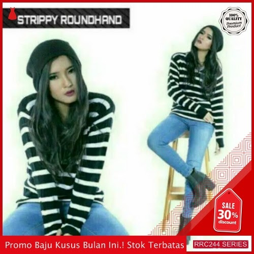 RRC244S37 Strippy Roundhand Black Wanita Terbaru BMGShop