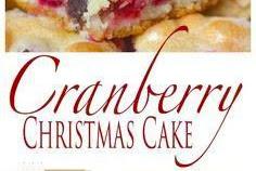 Cranberry Christmas Cake Recipe