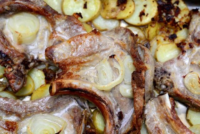 Chuletas de cerdo al horno a la mostaza 03