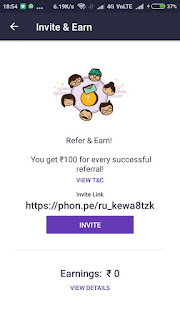 PhonePe App - Rs.100 Per Refer + 30% Cashback on Recharge