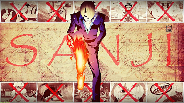 Kuroashi no Sanji Karakter Terkuat Tanpa Buah Iblis