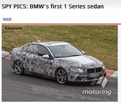 BMW 1シリーズにセダンタイプが発売