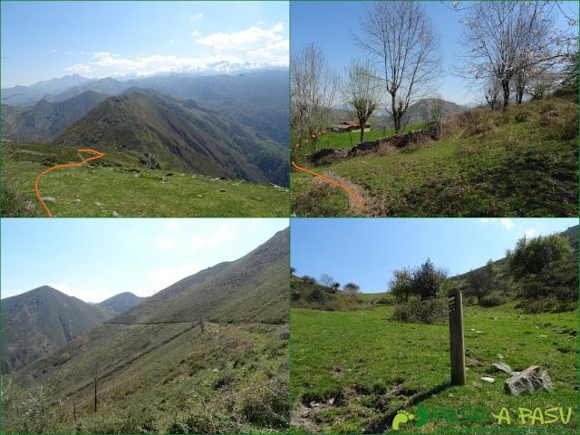 Bajando de la Cruz de Priena a la Ruta de Frassinelli