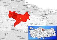 Merzifon ilçesinin nerede olduğunu gösteren harita