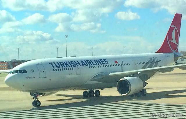 Airbus 330-200 de Turkish Airlines en Madrid