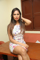 Nishi Ganda stunning cute in Flower Print short dress at Tick Tack Movie Press Meet March 2017 224.JPG