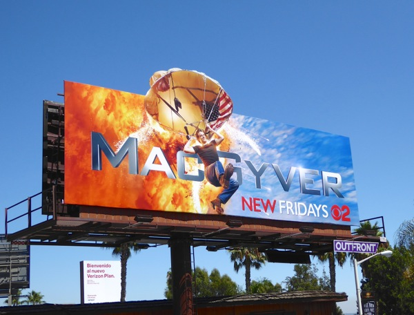 MacGyver TV remake parachute extension billboard
