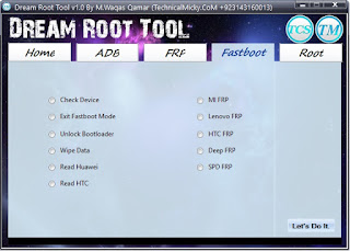 TCS Dream Root Tool ADB Fastboot Free Download