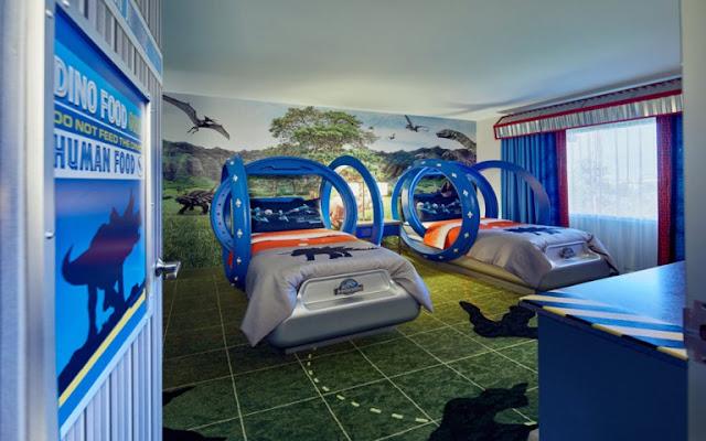 Quarto infantil do Jurassic World na Universal Orlando