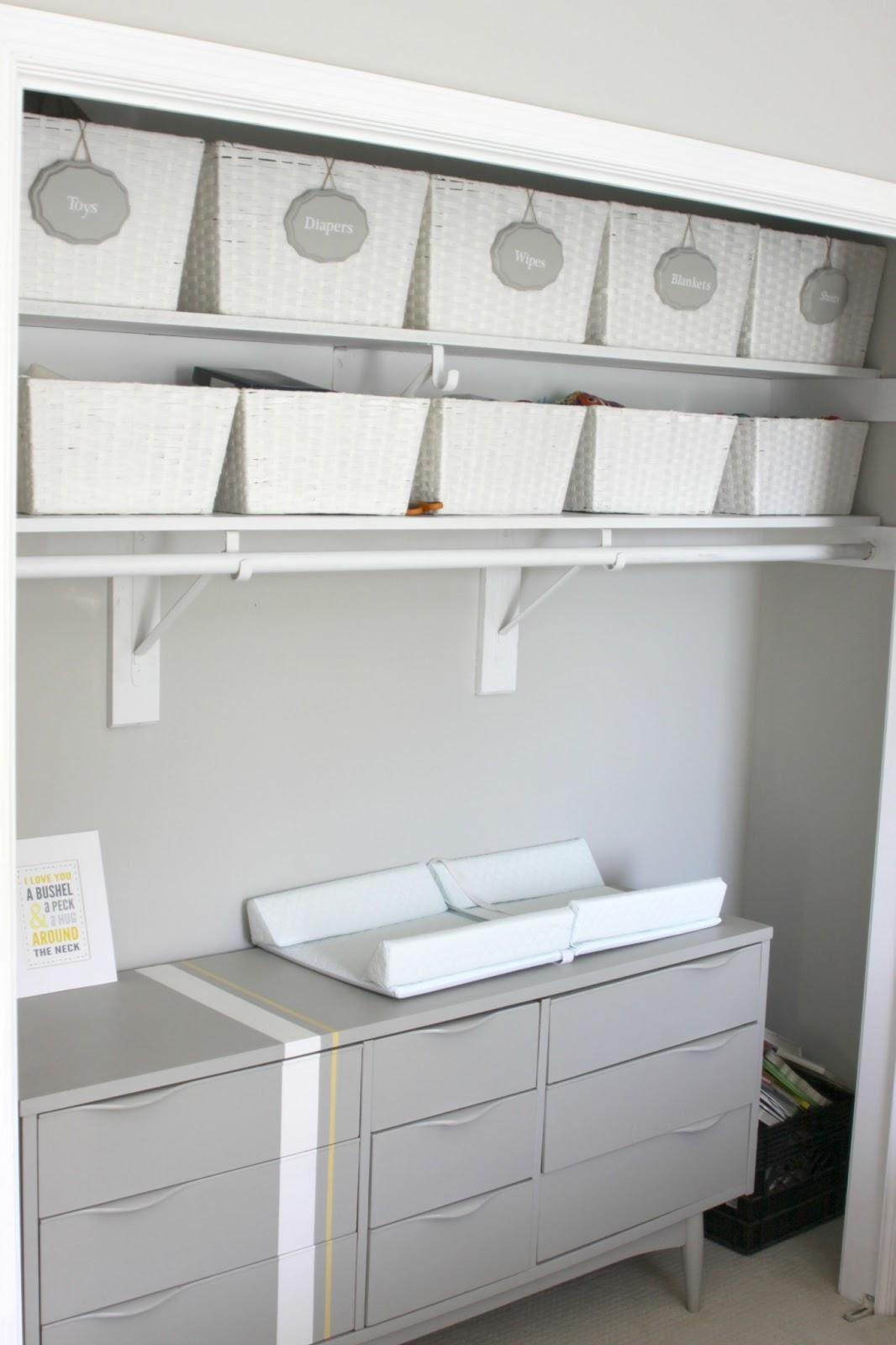 Our Pinteresting Family Nursery Closet