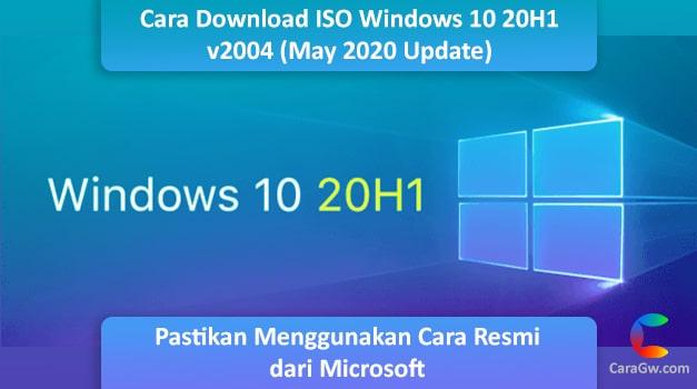 Cara Download file ISO Windows 10 May 2020 v2004 (20H1) Original