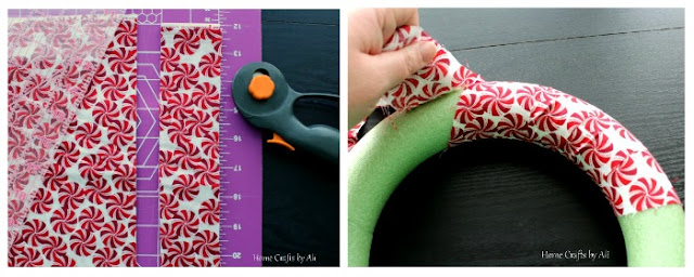 christmas holiday wreath decor DIY fabric