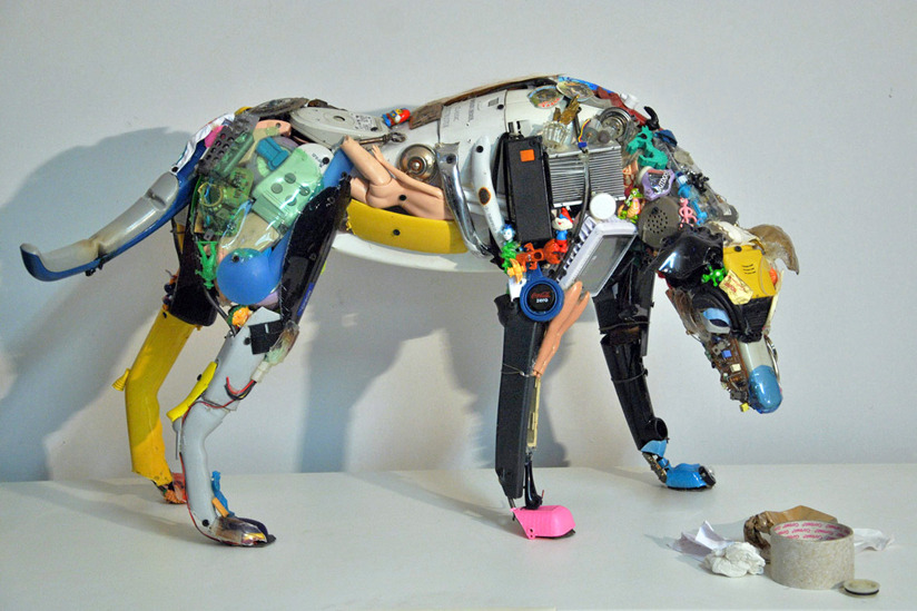 How to recycle amazing junk art sculptures made from for Art made by waste material