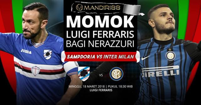 Prediksi Sampdoria Vs Inter Milan, Minggu 18 Maret 2018 Pukul 18.30 WIB