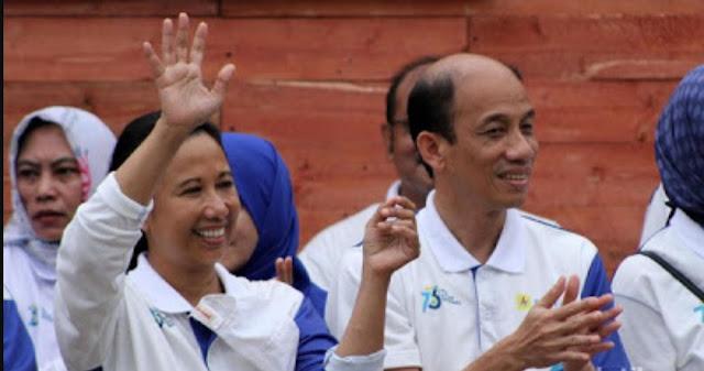 Prabowo Bilang BUMN Satu-persatu Bangkrut, Rini: Mana Buktinya?