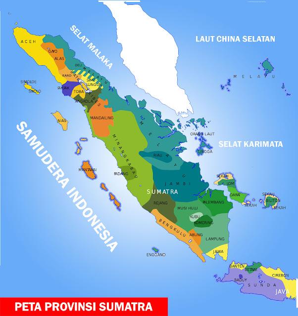 Gambar Peta Provinsi Sumatra