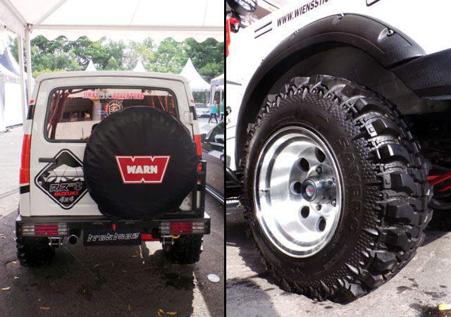 Modipikasi Ban Cadangan Dan Velg - Biaya Modifikasi Suzuki Katana Offroad 4x4 Ban Besar Mirip Jeep Hummer Rubicon