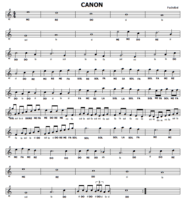 Musica E Spartiti Gratis Per Flauto Dolce