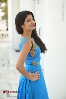 Telugu Actress Akshita (Pallavi Naidu) Latest Stills in Blue Long Dress at Inkenti Nuvve Cheppu Movie Promotions  0060.jpg