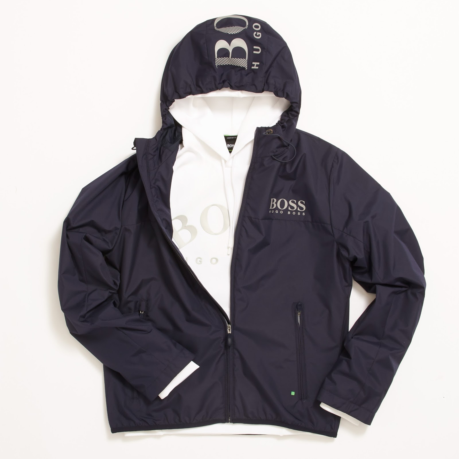 b7dca4ff8 Hugo Boss Athleisure Jeltech Black Jacket - £249 / Red Sly hoody Sweatshirt  for £179