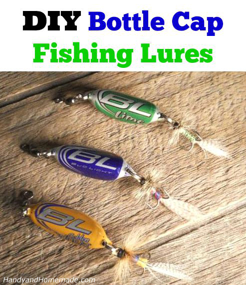 3 diy how to make a beer bottle cap fishing lures for Homemade fishing lures
