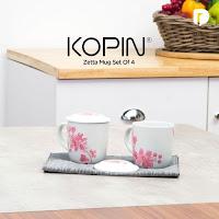 Dusdusan Kopin Zetta Mug Set (Set of 4) ANDHIMIND