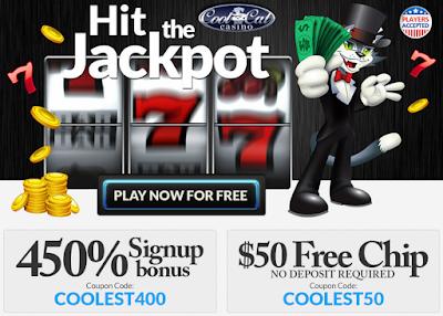 Cool Cat Casino 450% Welcome Bonus and $50 FREE