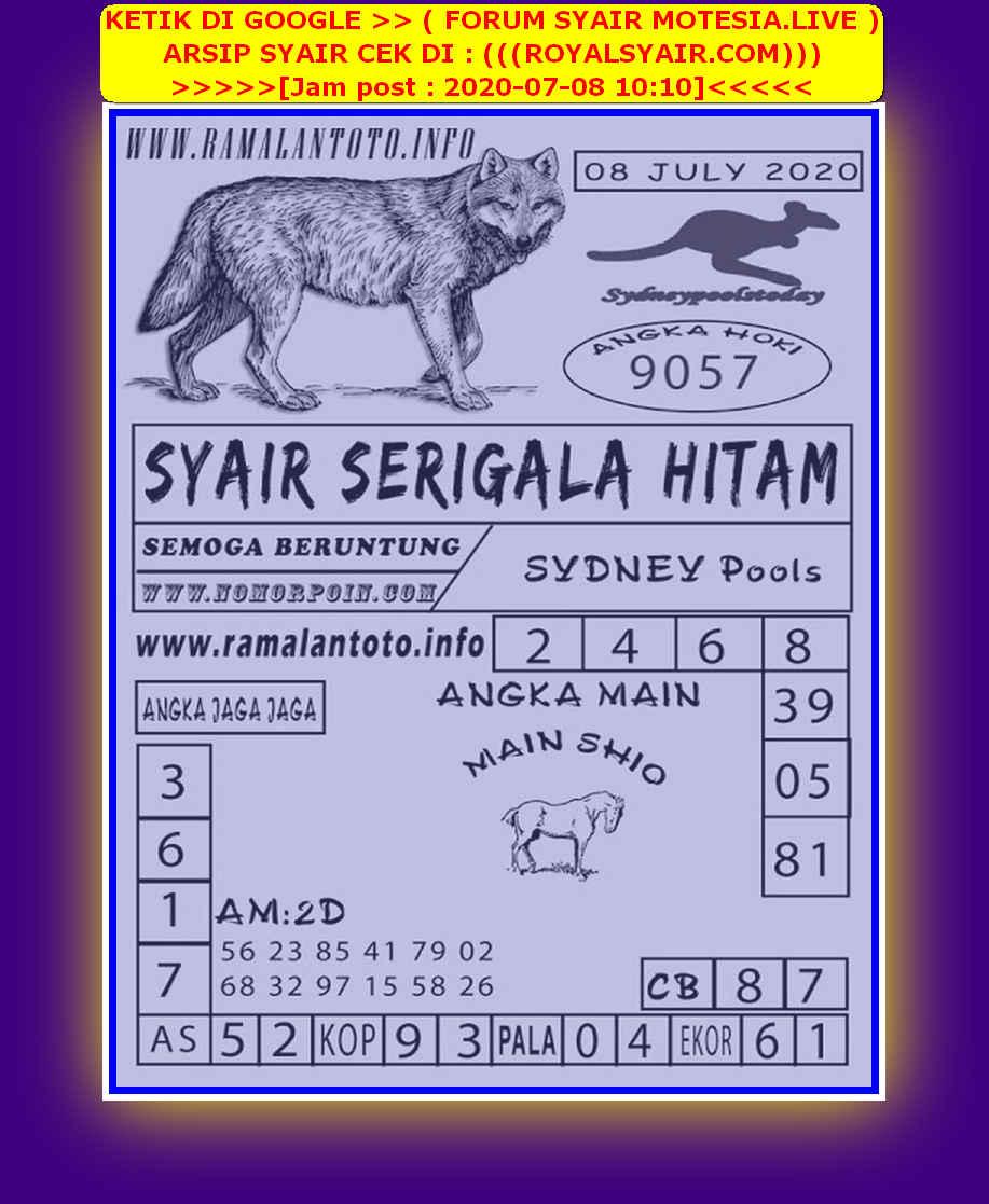 Kode syair Sydney Rabu 8 Juli 2020 147