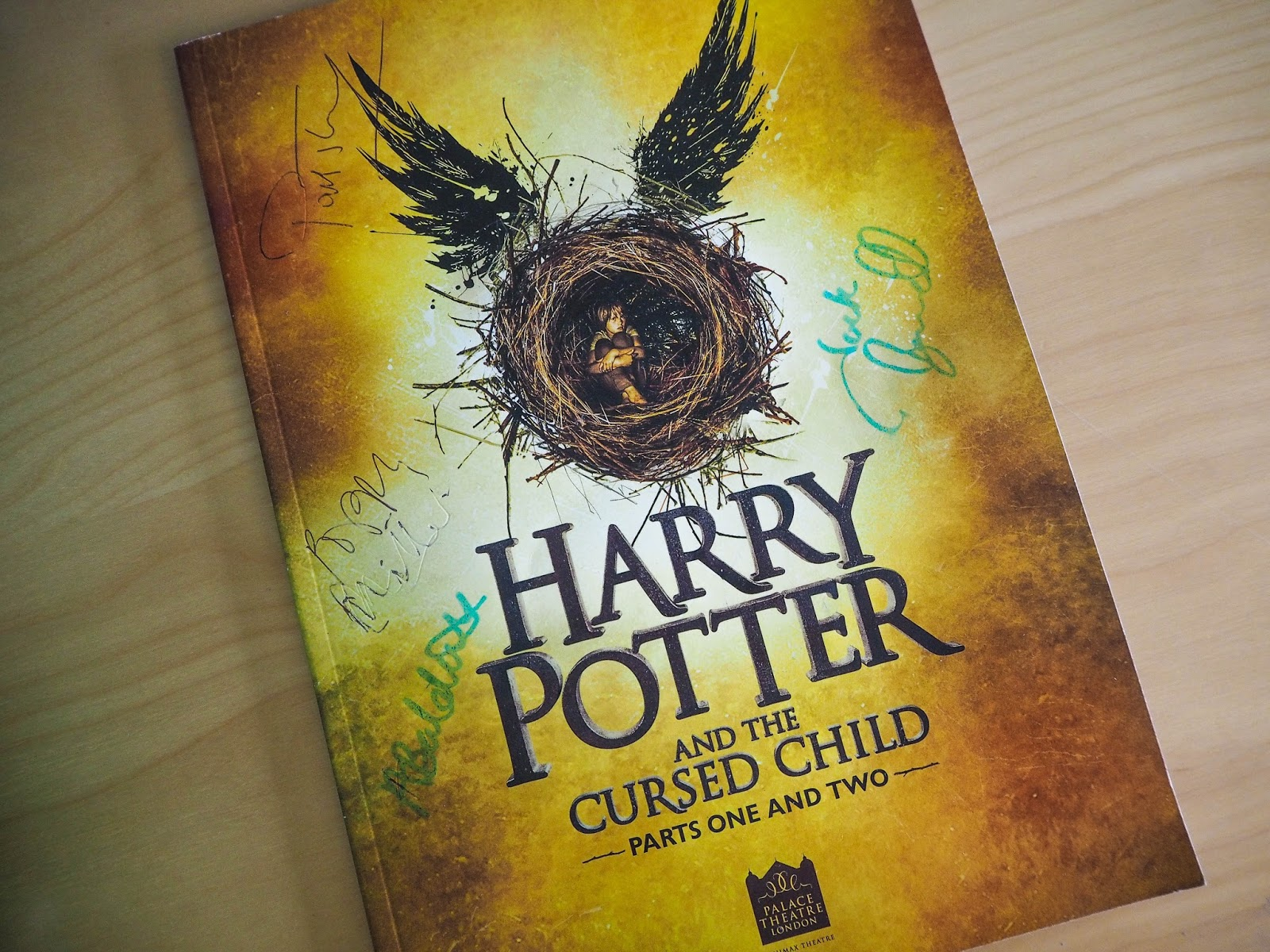 Harry Potter and the Cursed Child signed programme
