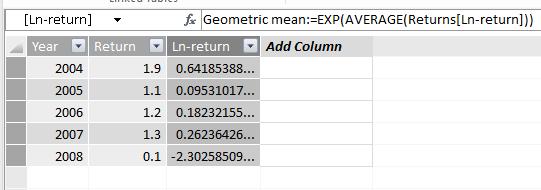 Geometric mean in DAX/Power Pivot | nenve