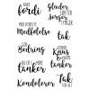 Gittes Eget Design DE SVÆRE KORT clear stamps