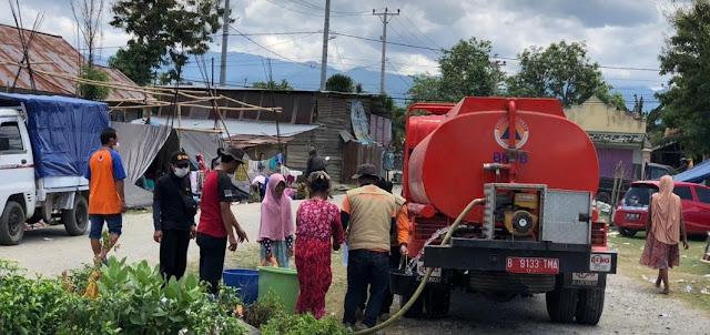 BPBD Tana Toraja Distribusi Air Bersih ke Masyarakat di Palu-Donggala-Sigi
