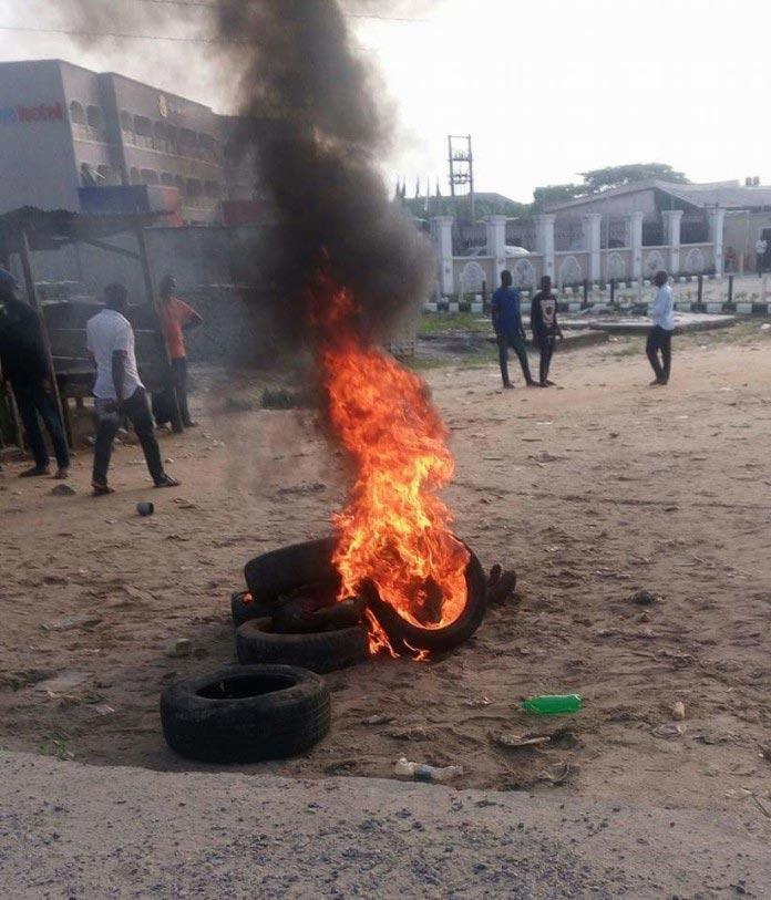 Armed robber set ablaze at Effurun, Delta State