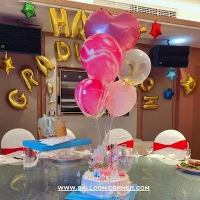 Properti Balon Tiang Meja Dengan Stik Plastik + Cup