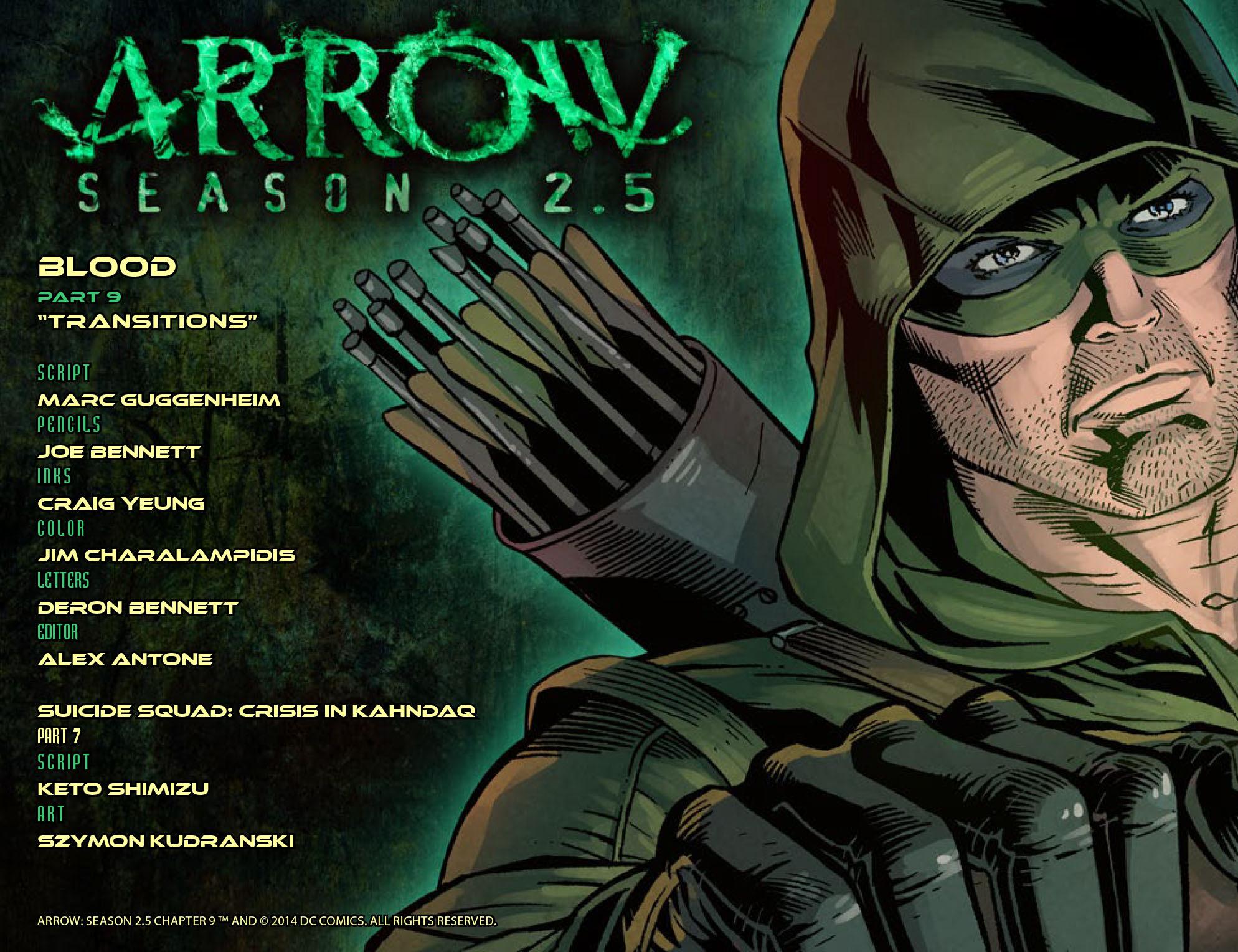 Read online Arrow: Season 2.5 [I] comic -  Issue #9 - 2