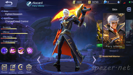 Alucard - Fiery Inferno Skin Mobile Legends Season 2