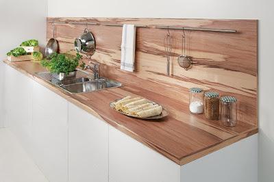 Echtholz Arbeitsplatte Küche