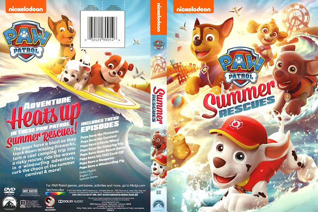Paw Patrol Summer Rescues DVD Cover