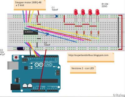 Fig. 6 - Modulo Fig. 5 con LED  di Paolo Luongo