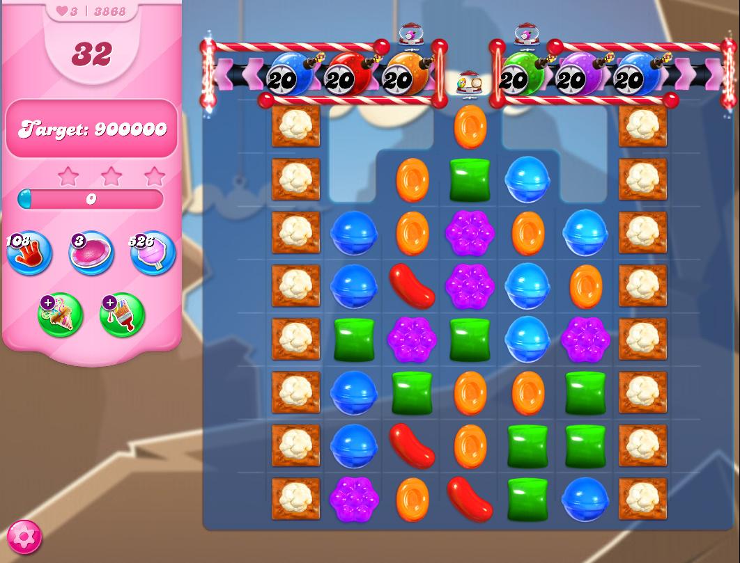 Candy Crush Saga level 3868
