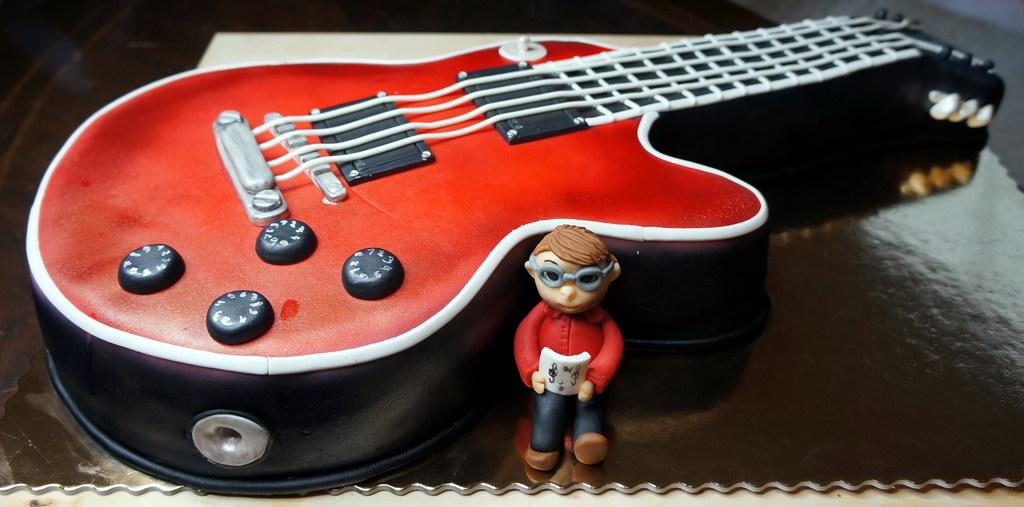 Image Of A Guitar Birthday Cake Imaganationface
