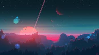 Sunset, Scenery, Forest, Horizon, Digital Art, 4K, #89