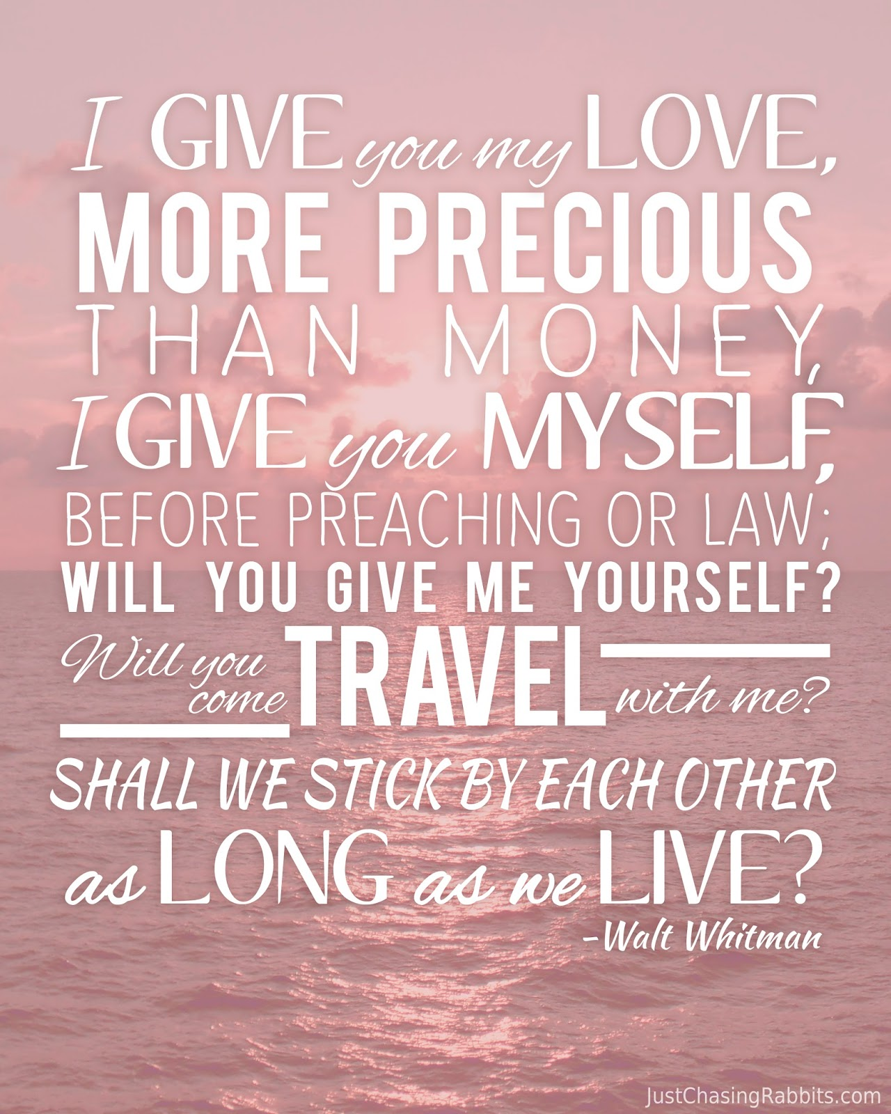Walt Whitman Quotes Love: Free Valentine Printable For Travel Lovers And Lovers Who