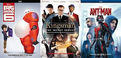 Big Hero 6; Kingsmen; Ant-man