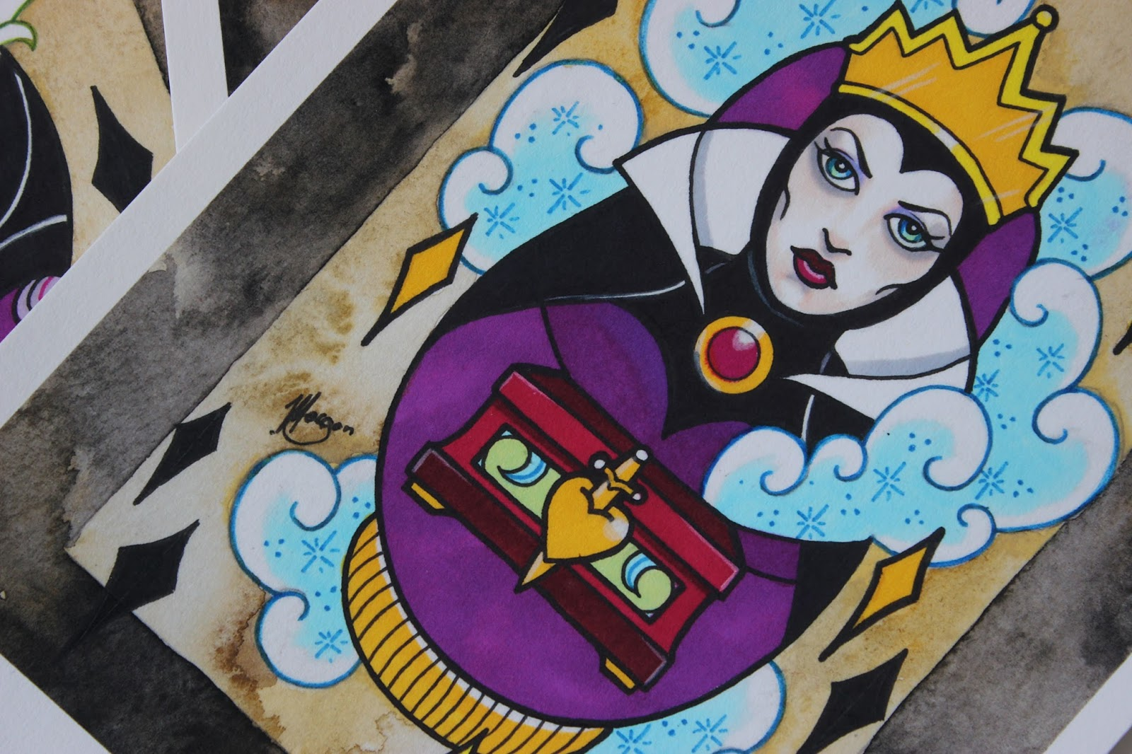 A picture of Disney Villain The Evil Queen by Vicky Morgan