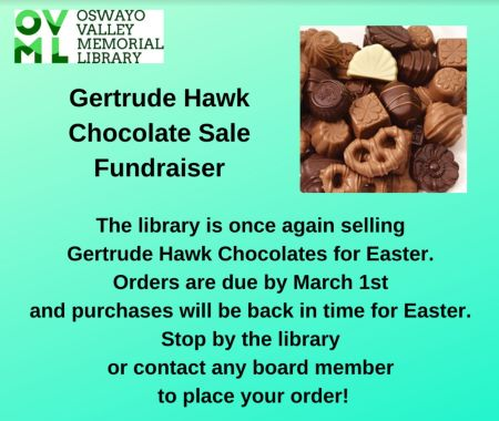3-1 Oswayo Library Chocolate Fundraiser